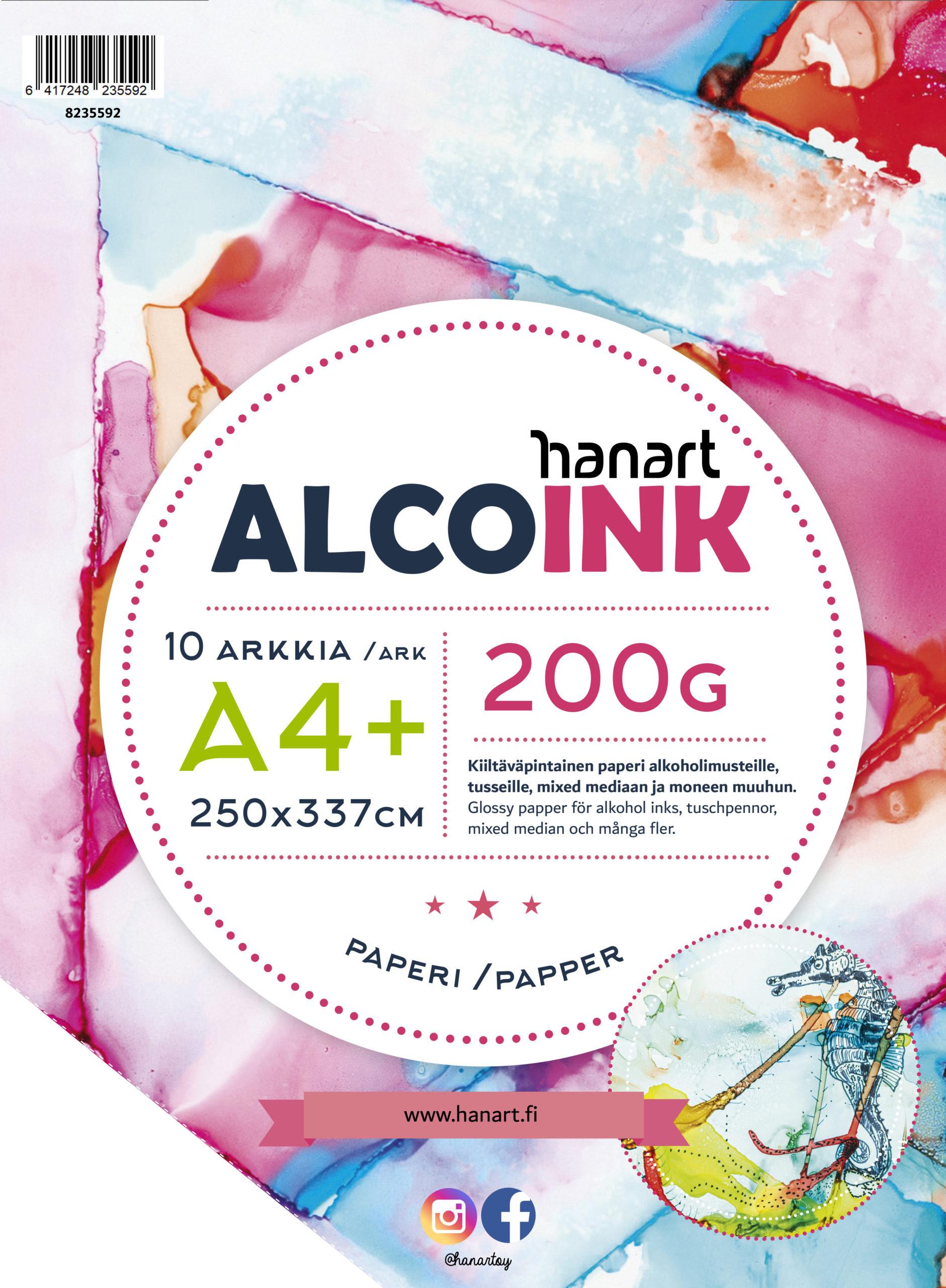 HanArt AlcoInk – paperit alkoholimusteille!